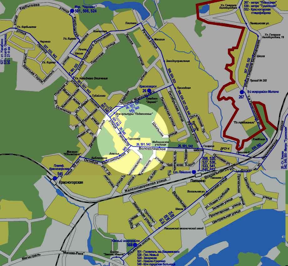 Карта пассажирского транспорта.  2002 .Ссылка на. сайт-источник.
